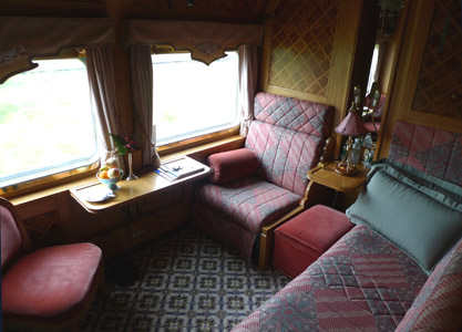 A Stateroom on the Eastern & Oriental Express train