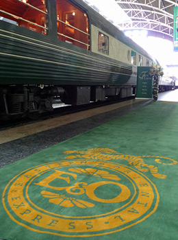 The Eastern & Oriental Express luxury train from Singapore to Bangkok