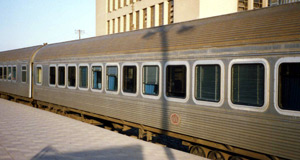 Egyptian Railways - air-conditioned express train as used Cairo-Alexandria