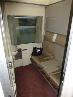 2-bed sleeper on the sleeper train from Cairo to Luxor & Aswan - day mode