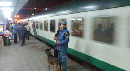 Boarding the sleeper train to Luxor in Cairo