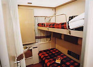 2-bed sleeper on the overnight train from Cairo to Luxor & Aswan