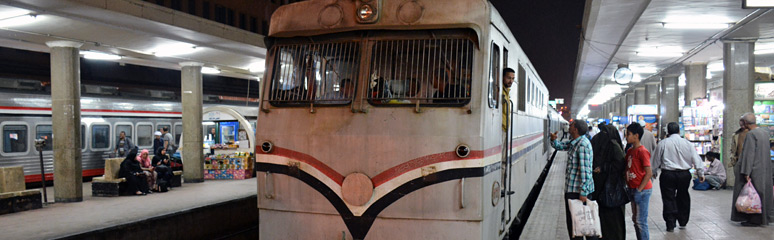 Sleeper train to Luxor about to leave Cairo