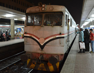 Boarding the Cairo to Luxor sleeper train