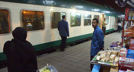 Boarding the Cairo-Luxor sleeper train