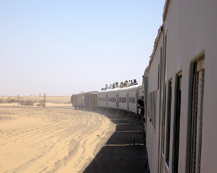 Train from Wadi Halfa to Khartoum, Sudan