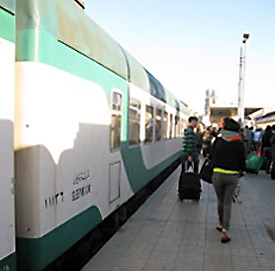 The deluxe sleeper train from Cairo to Luxor