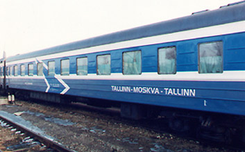 The 'Tallinna Express' overnight train between Tallinn & Moscow