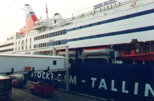 Boarding Tallink's 'Regina Baltica' from Stockholm to Tallinn