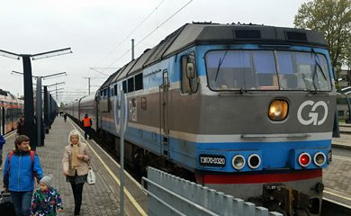 Train from Moscow & St Petersburg, arrived at Tallinn