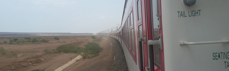 The train on its way from Addis Ababa to Djibouti