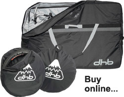 Bike bag for transporting a bike by train.  THis is a recommended dhb bag, from www.wiggle.com