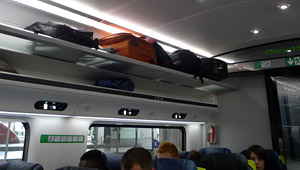 Overhead luggage racks for small & medium items...