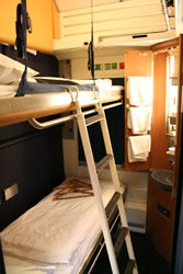 A 2-berth German sleeper