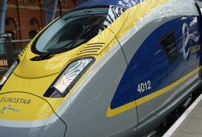 How to buy cheap train tickets to Europe:  A Eurostar at St Pancras...