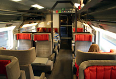 Eurostar ski train- first class seats