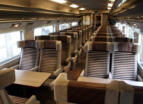 2nd class seats on a Eurostar train from London to Paris or Brussels