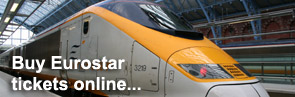 Buy London to Paris Eurostar train tickets online