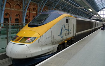 A Eurostar to Brussels at London St Pancras