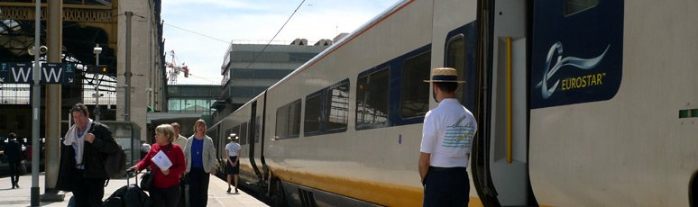 Boarding the Eurostar from Marseille to London