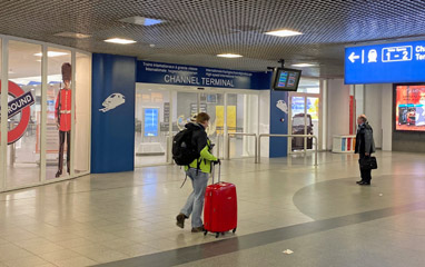 Entrance to Eurostar terminal at Brussels Midi