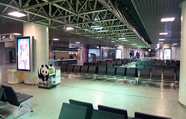 Eurostar departure lounge at Brussels Midi