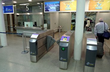 Eurostar check-in gates