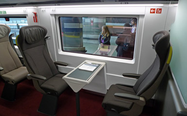 1st class seats on an e320 Eurostar