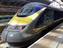 A Eurostar at London St Pancras