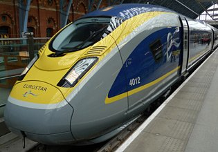 Eurostar train from London to Paris