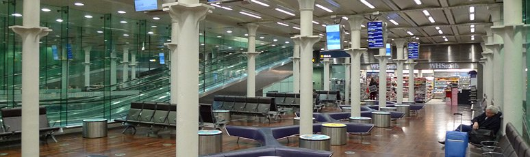 Eurostar departure lounge at St Pancras