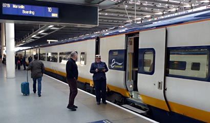 Eurostar boarding in  London
