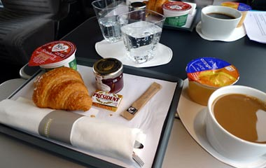 Breakfast on the Eurostar to Marseille
