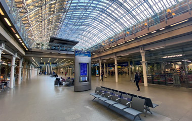 London St Pancras station, lower level