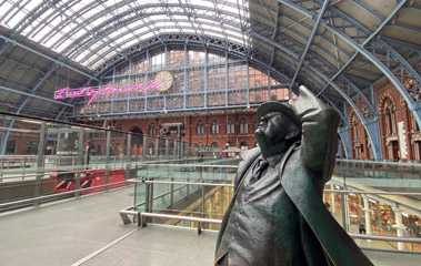 London St Pancras station, upper level