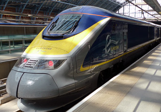 Eurostar train from London to Paris & Brussels