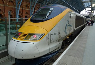 Eurostar train first class from London to Paris & Brussels