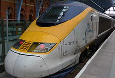A Eurostar train from London via the Channel Tunnel has just arrived at Paris Gare du Nord...