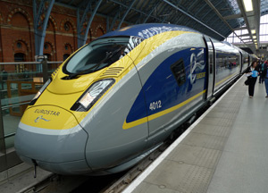 Eurostar train from London to Paris & beyond