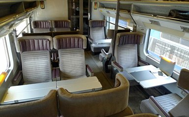 1st class seats - Business or Standard Premier - on a classic Eurostar