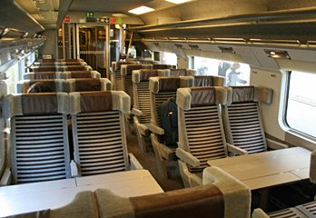 2nd class seating ona classic  Eurostar