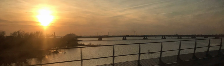 Crossing the Moerdijk Bridge over the Hollands Diep