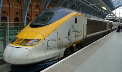 Eurostar train to Paris seen at London