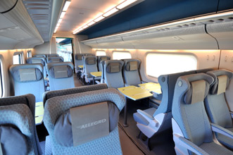 2nd class seats on the Allegro train from Helsinki to St Petersburg