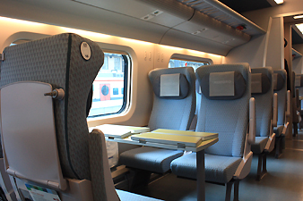 2nd class seats on Allegro train Helsinki-St Petersburg
