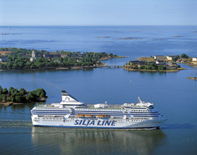 The ferry Silja Symphony from Stockholm to Helsinki
