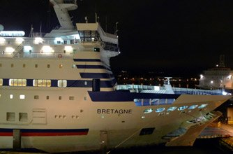Brittany Ferries 'Bretagne' about to sail from Portsmouth to France...