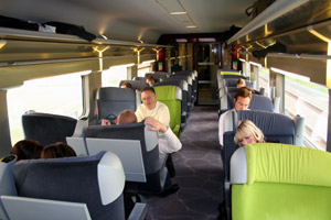 Refurbished TGV interior by Christian Lacroix, first class