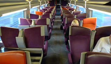 TGV interior by Christian Lacroix, second class