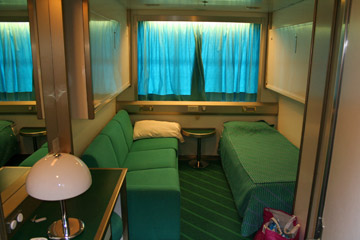 A cabin on Corsica Ferries